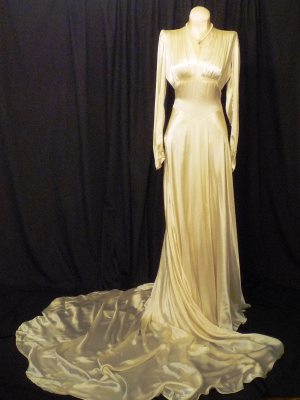 historic wedding gown